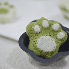 双色松糕(原味&抹茶)