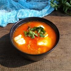 番茄豆腐汤夜宵