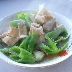 干豆腐烩尖椒