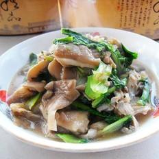 小白菜烧鲜蘑