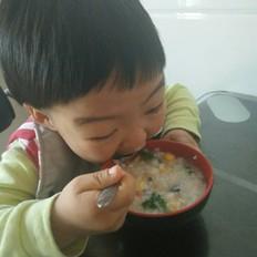 鲜虾鸡蛋粥