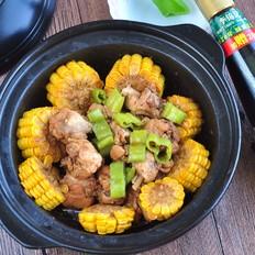 玉米鸡肉煲
