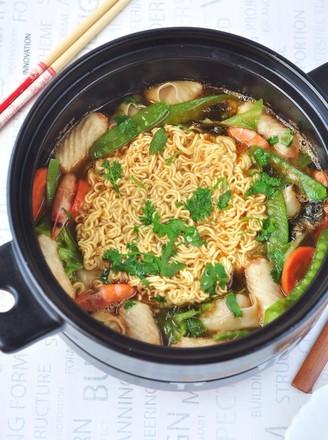 鲜虾蔬菜馄饨面#午餐#的做法
