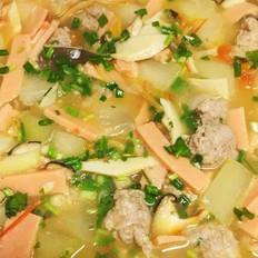 三鲜圆子汤