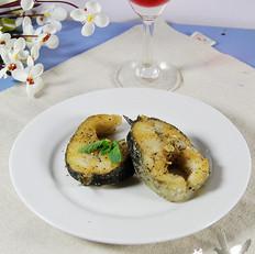 黑胡椒煎澳斑鱼段