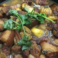 板栗红烧肉砂锅