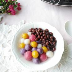 蜜豆彩蔬小圆子