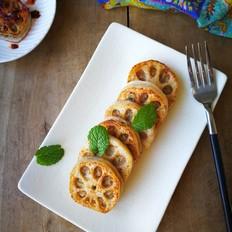 香煎鲜虾猪肉藕盒