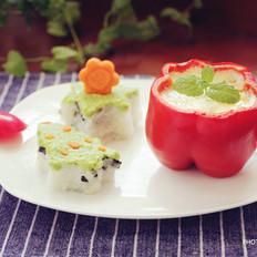 牛油果飯團&彩椒雞蛋杯