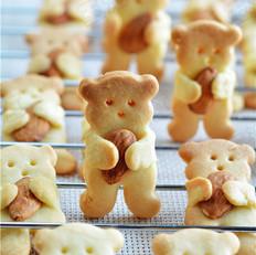 小熊杏仁饼干