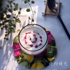 自制蓝莓酸奶杯