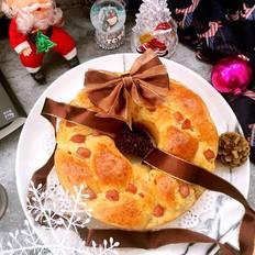 甄妮珍馐圣诞花环面包