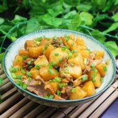 土豆炖鸡骨#晚餐#
