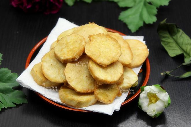酥脆五香炸薯片的做法