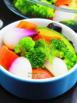 春季排毒七彩沙拉#午餐#的做法