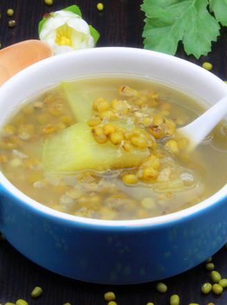 西瓜皮绿豆糖水的做法