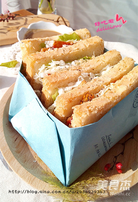 鸡排三明治的做法【步骤图】_菜谱_美食杰