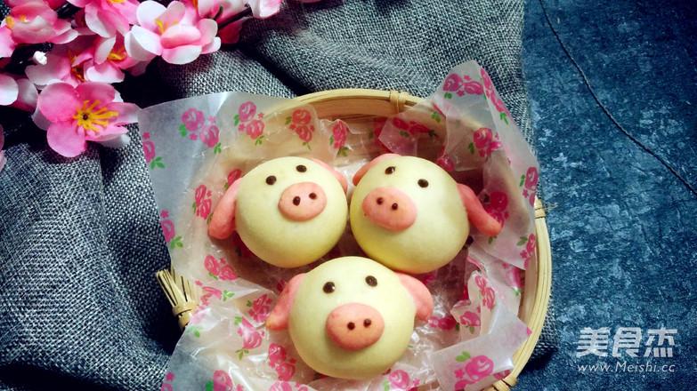 萌萌哒小猪月饼的做法