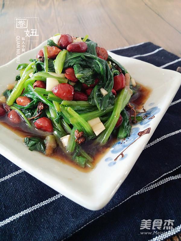 果仁菠菜的做法【步骤图】_菜谱_美食杰