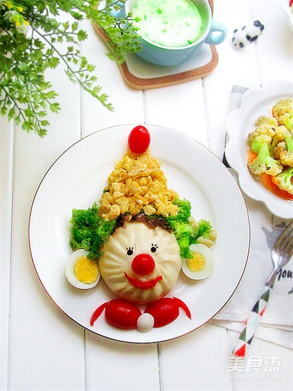 小丑趣味早餐的做法【步骤图】_菜谱_美食杰