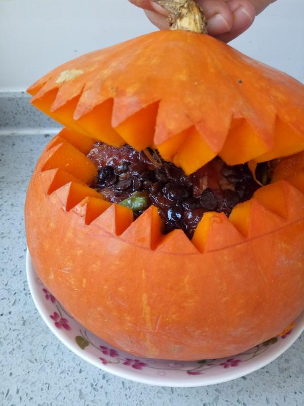 南瓜盅豉香蒸好处冰镇绿豆汤的排骨图片