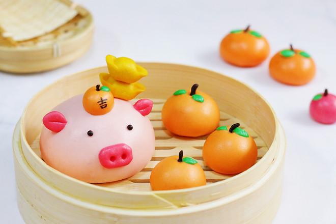 小猪馒头_吉祥如意小猪馒头的做法