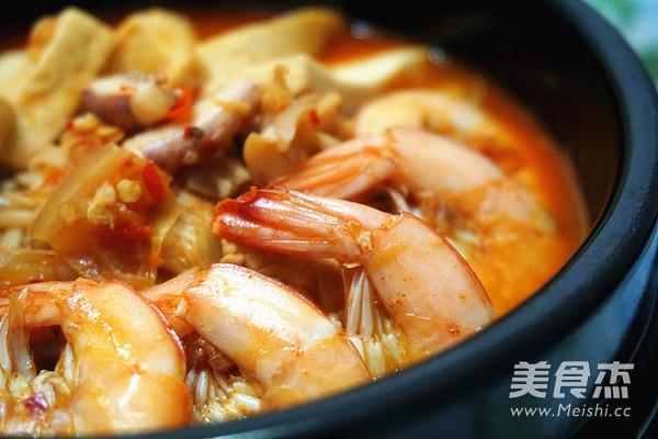 韩式海鲜锅的做法图片