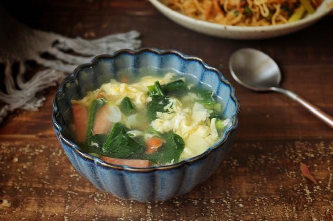 菠菜蛋花汤成品图
