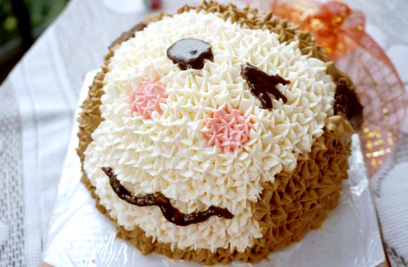 裱花蛋糕:小猴的做法【步骤图】_菜谱_美食杰