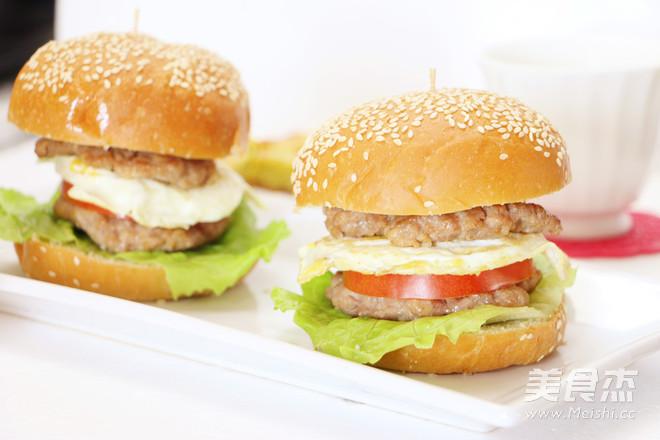 猪肉汉堡的做法【步骤图】_菜谱_美食杰