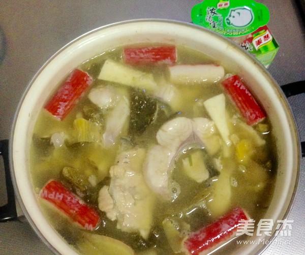 浓汤宝酸菜鱼火锅的做法