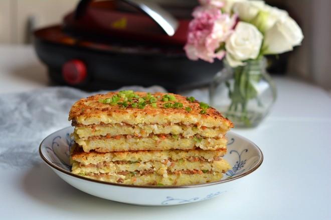米饭千层肉饼成品图