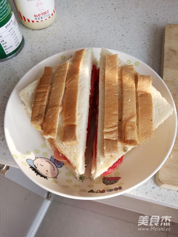 番茄火腿玉米三明治的做法【步骤图】_菜谱_美食杰