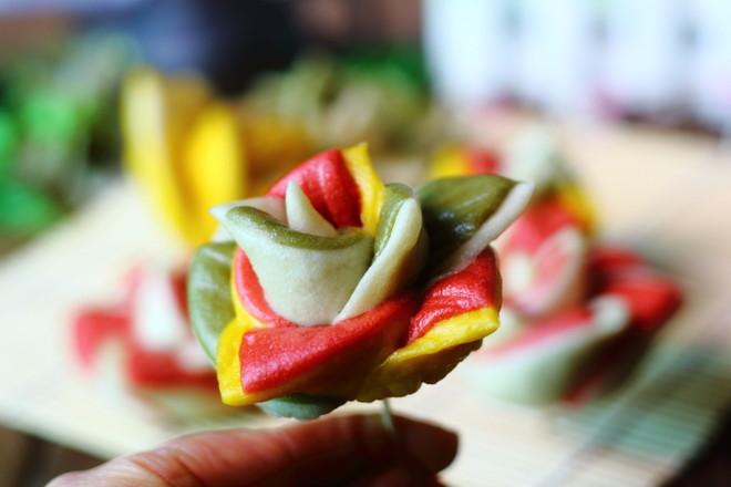 玫瑰花馒头成品图