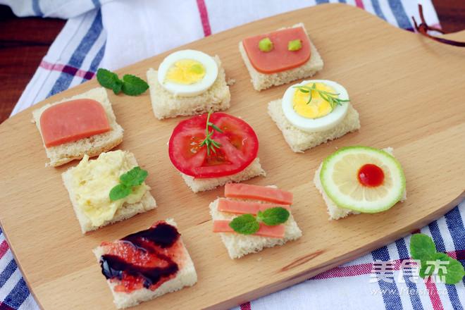 开放式三明治的做法【步骤图】_菜谱_美食杰