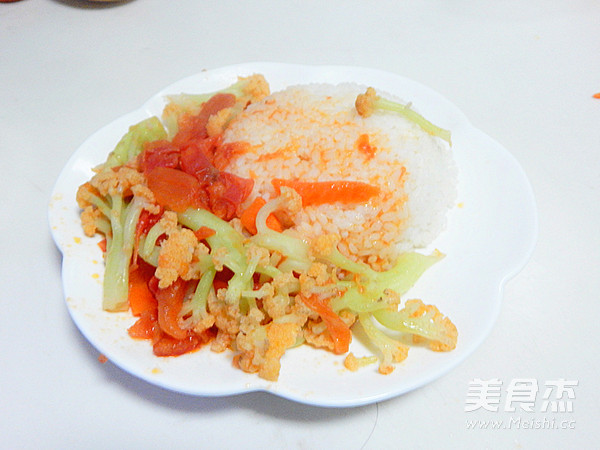 西红柿花菜的做法【步骤图】_菜谱_美食杰