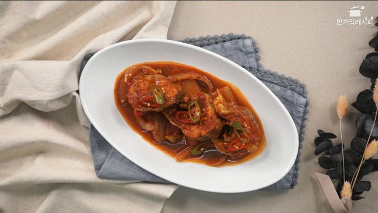 韩式萝卜炖明太鱼成品图