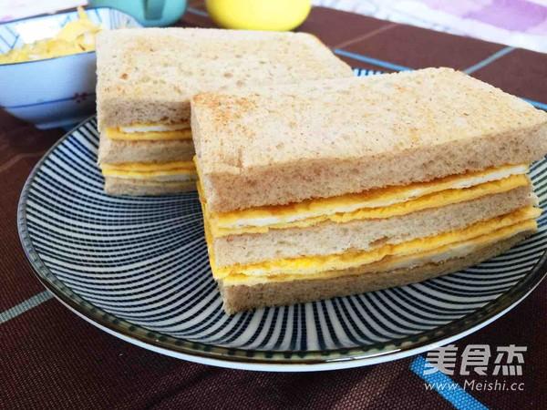 双层蛋饼三明治的做法【步骤图】_菜谱_美食杰