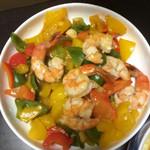 没有韭菜的韭菜馅饺子鱼香大虾的做法