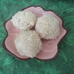 杰米田园椰蓉豆沙糯米滋的做法