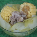 杰米田园腊排骨煲玉米松茸汤的做法