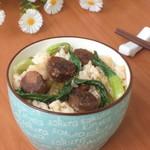 杰米田园椴木花菇腊肉焖饭的做法