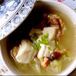 品品生活白菜豆腐鸭架汤的做法