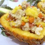 哎友木木菠萝鸡饭的做法