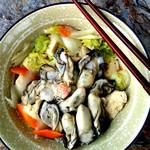 寻找桃花岛牡蛎白菜汤的做法