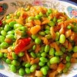 kris。。。萝卜干炒毛豆的做法