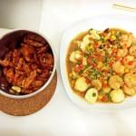 孟小猹豌豆虾仁烩玉子豆腐的做法