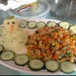 我家小妮妮缤纷粒粒土豆泥的做法