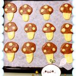 A♥️麦兜小蘑菇黄油饼干的做法