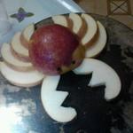 會飛的螃蟹☆小黑1分钟把苹果切成小螃蟹的做法